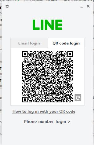 Đăng nhập LINE PC bằng mã QR