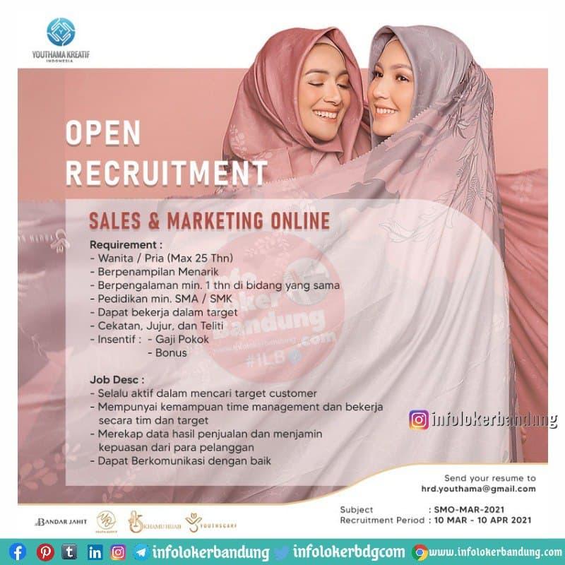 Lowongan Kerja PT. Youthama Kreatif Indonesia Bandung Maret 2021