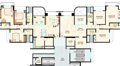 Dosti west county Floor plan