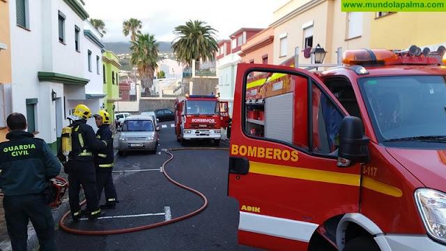 Incendio ayer en una vivienda de San Pedro