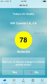 Weather.com air quality app