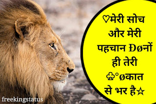 killer attitude status in hindi for boys,killer attitude status in hindi