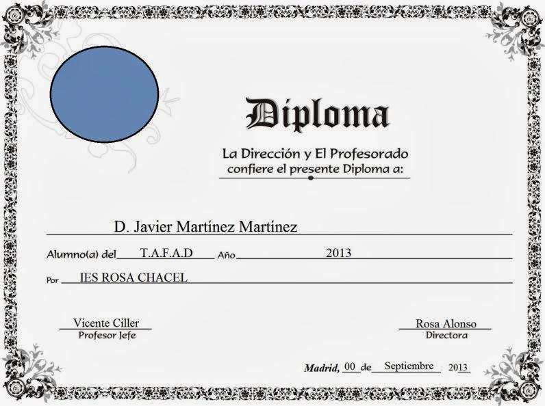 Formato para llenar diplomas - Imagui