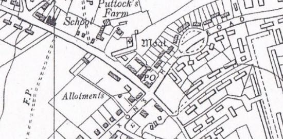 Scan of 1960 6 inch OS map