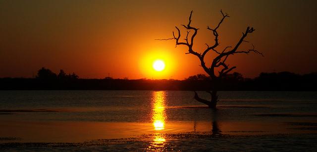 Kariba Sunset Zambezi river basin between Zambia and Zimbabwe