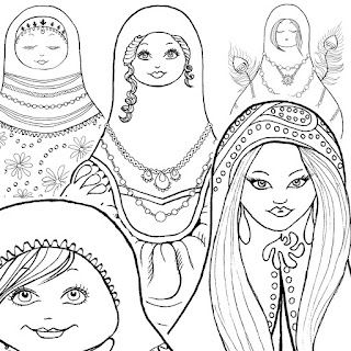 Matryoshka Doll Printable Coloring Book
