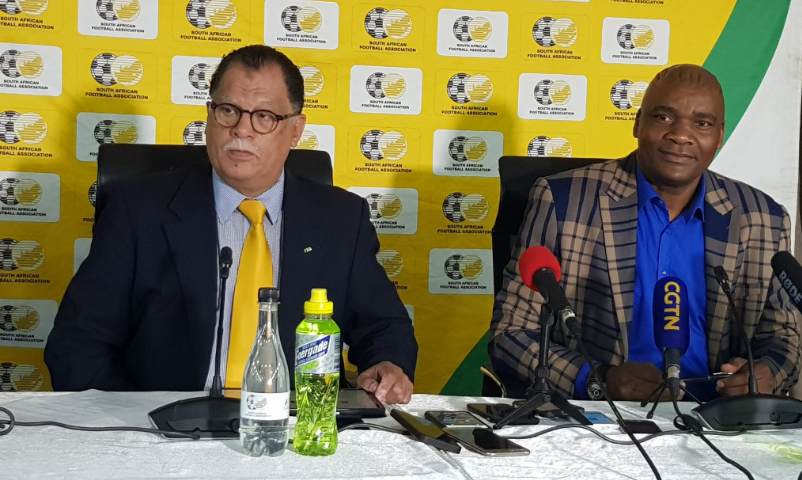 Danny Jordaan speaking at a recent press conference