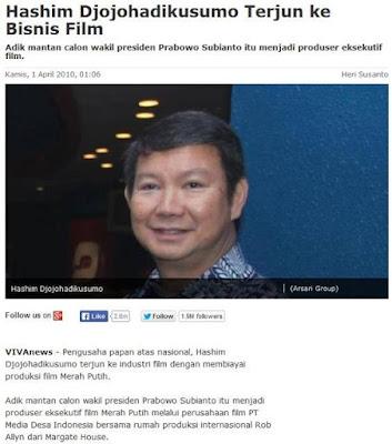 Hashim Adik Prabowo Terjun Ke Dunia Film