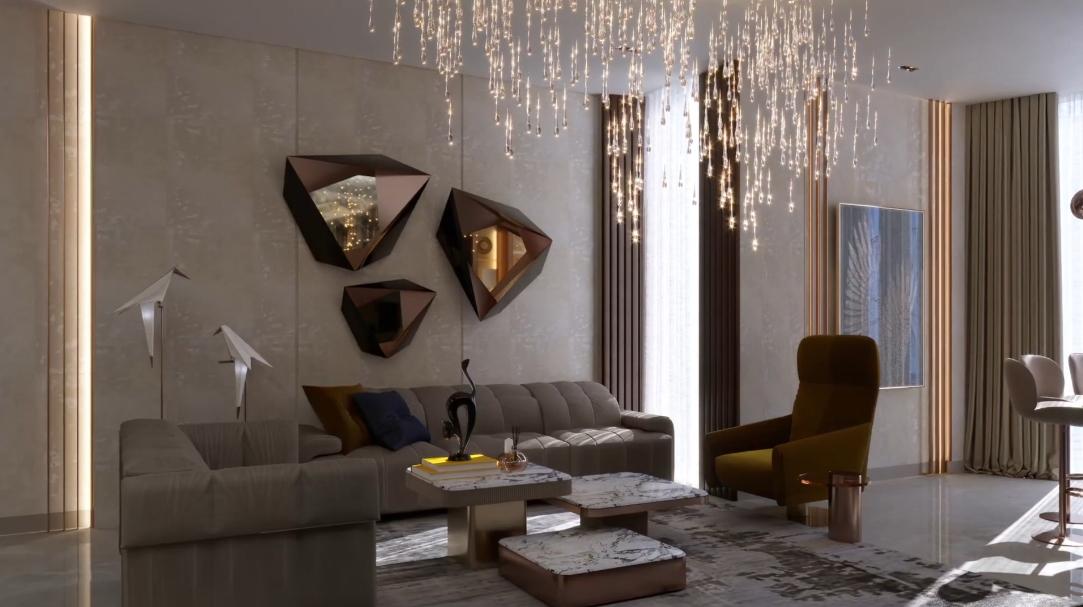 25 Interior Design Photos vs. Dubai Luxury Condo Contemporary Redesign Tour