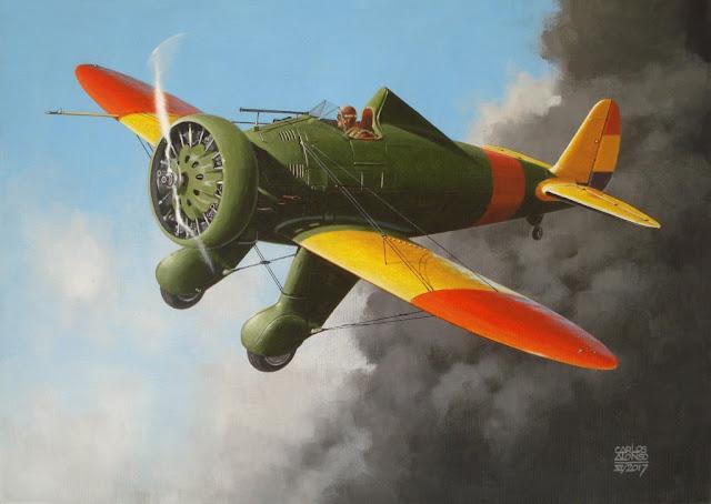 Boeing modelo 281 - p26 por Carlos Alonso Aviation Art