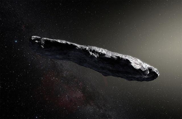 'Oumuamua - ilustração - pode mesmo ser uma nave espacial