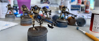 Easy Painting Necron Miniatures Quick Method SquadPainter Drybrushing