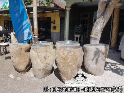 Wastafel Cuci Tangan, Model Pedestal Batu Kali, Pedestal Batu Alam Murah
