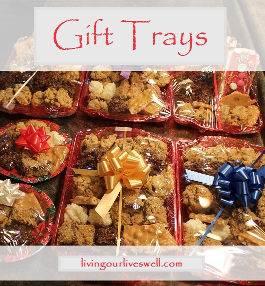 Making Christmas Baking Gift Trays