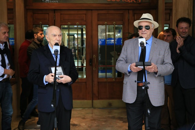 Homenaje a Héctor Larrea y Cacho Fontana en Radio Nacional