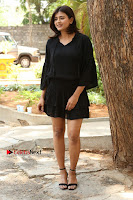 Actress Hebah Patel Stills in Black Mini Dress at Angel Movie Teaser Launch  0030.JPG