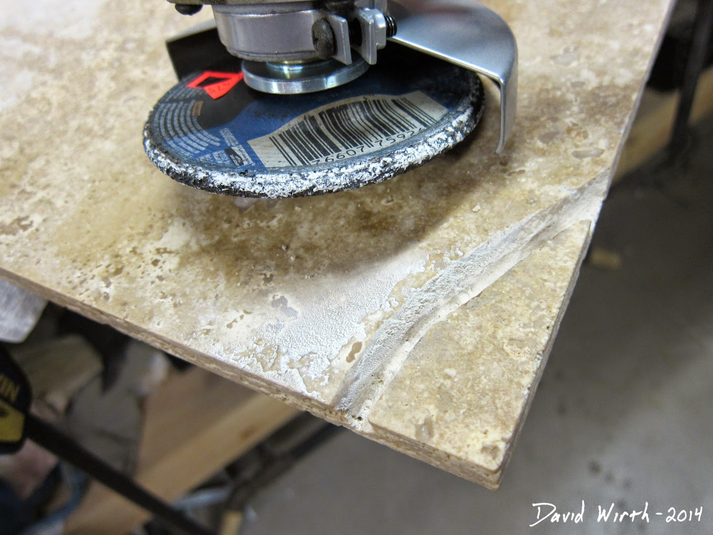 how to cut a curve in stone tile, saw, grinder