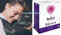 Logo Sanicat Pink Passion: vinci gratis le lettiere per il tuo gatto