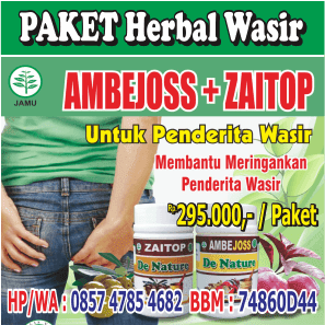 paket herbal wasir, paket herbal hemoroid, paket herbal ambeien, paket herbal benjolan di anus
