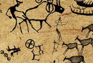 ilk insanların mağara duvarlarına çizdiği resimler