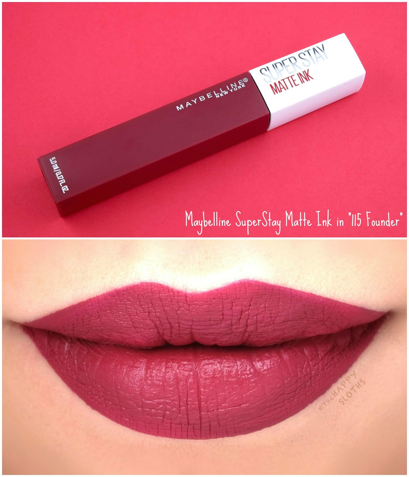 "Maybelline | SuperStay Matte Ink City Edition in ""115 Founder"": Review and Swatches"