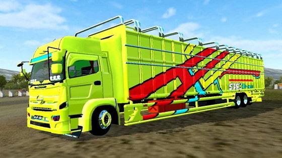 download mod truck hino c8 kerangka besi