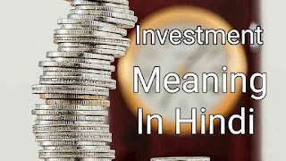 Investment meaning in hindi