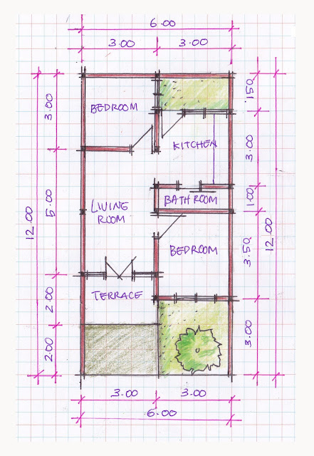 layout of house plan A-01b