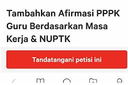 Lihat Dukungan Petisi Tambahkan Afirmasi PPPK, Sedikit Lagi 100.000 Tanda Tangan