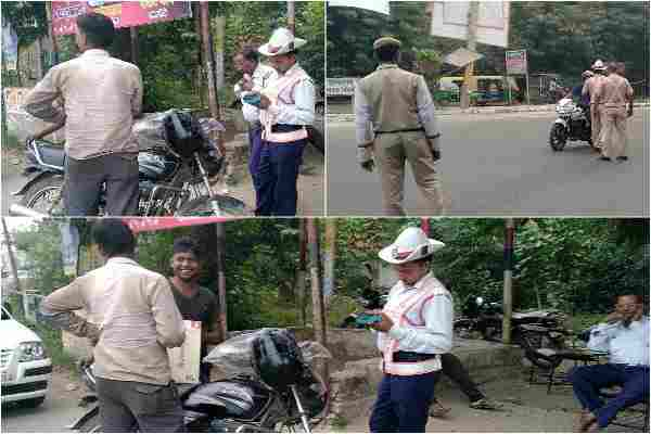 faridabad-traffic-police-chalan-bk-chowk-who-break-rule