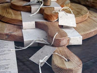 detalhes de tábuas de cozinha de madeira
