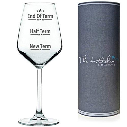 End of term wine glass