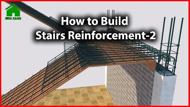 Mẫu Cầu Thang Đẹp I Cách bố trí thép cầu thang 2 vế chuẩn I Staircase reinforcement