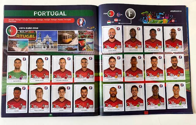 Figurine Portogallo panini Euro 2016