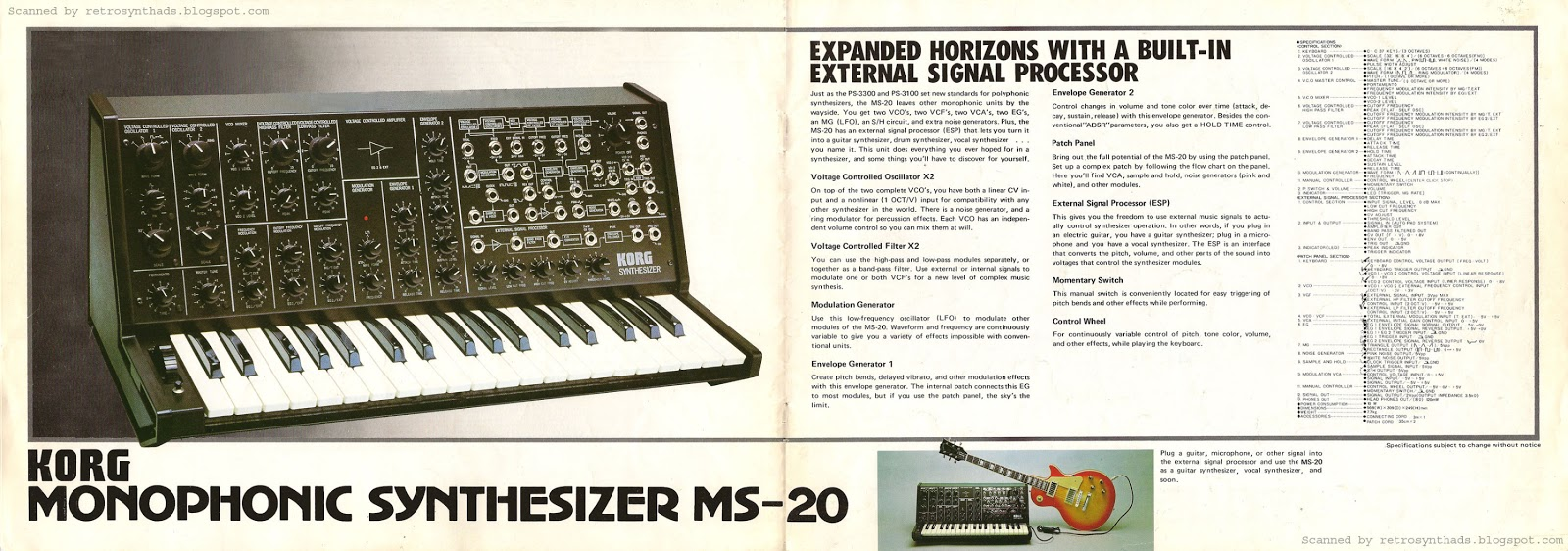 Retro Synth Ads: Korg MS-20, MS-10 and SQ-10