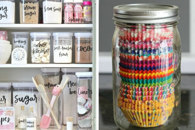 Baking Cabinet Organization, Organization, Diy Organization, DIY, Diy Hacks, Organization Tips, Baking Tips, Baking Cupboard Organization, Lifehacks