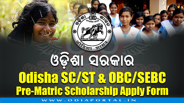 ST & SC Development, Minorities & Backward Classes Welfare Department, Government of Odisha has published application forms for Pre-Matric Scholarship 2018-19 for the class IX & X students of SC, ST, OBC/SEBC caste. You can download your desired offline application form PDF for apply of Pre-Matric Scholarship 2018-19. Download PDF application form 2018, Pre-Matric, Post-matric and Merit-cum-Means Scholarship 2018-19