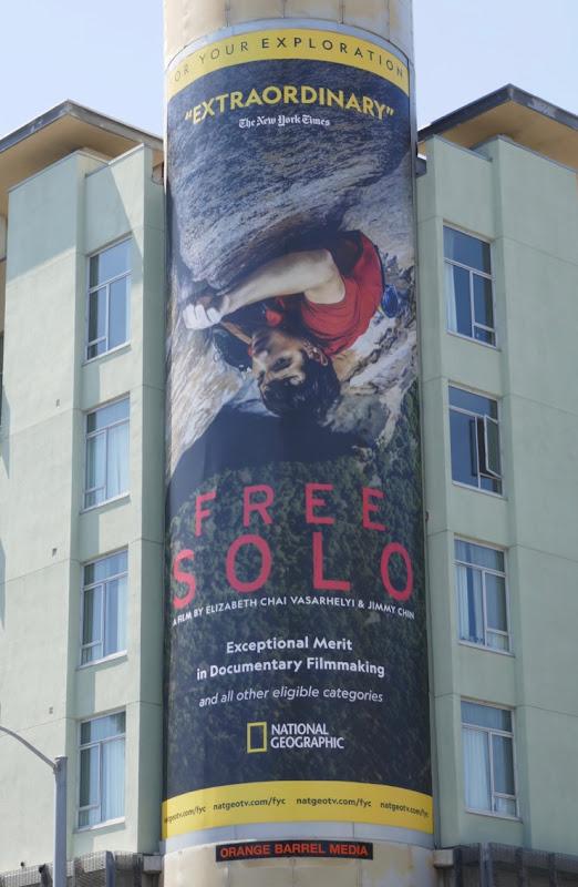 Free Solo Emmy FYC billboard