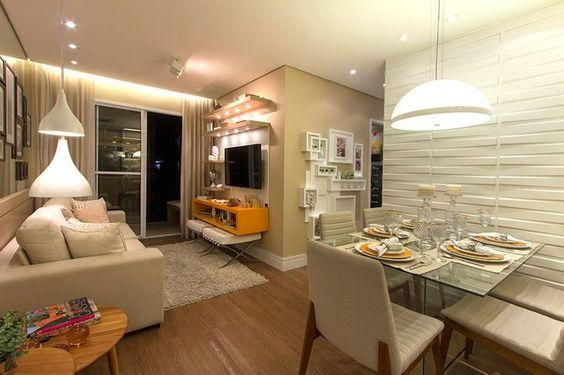 Decoração de sala de estar apartamento pequeno