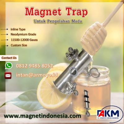 Magnet Trap Inline Type Untuk Pengolahan Madu