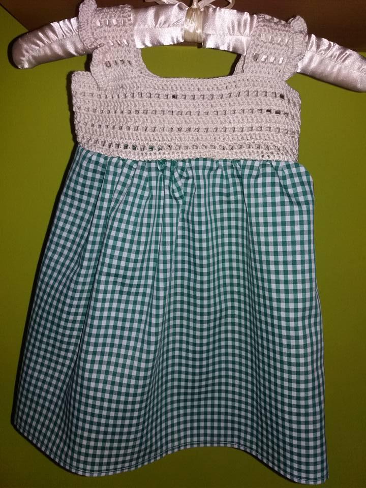 Canesú a ganchillo para vestido de niña | Mis LolanasyPunto
