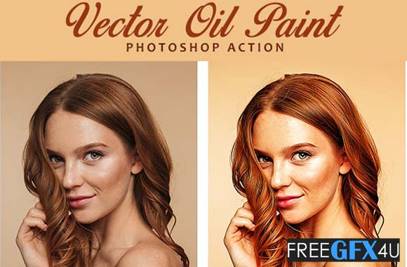 Vector Oil Paint Photoshop Action