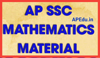 AP SSC MATHEMATICS MATERIAL
