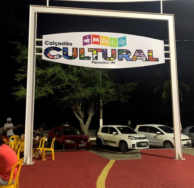 entrada do calçadão cultural de parnaiba