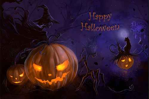 Horror happy halloween Images