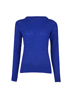 Dorothy Perkins - Petite Cobalt Ribbed Stitch Jumper