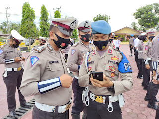 Usai Apel Pagi, Handphone Personel Polres Aceh Timur Diperiksa Provost
