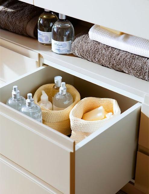 ordenar baño con el método konmari de forma exitosa con Marie Kondo la magia del orden cajones y cestas