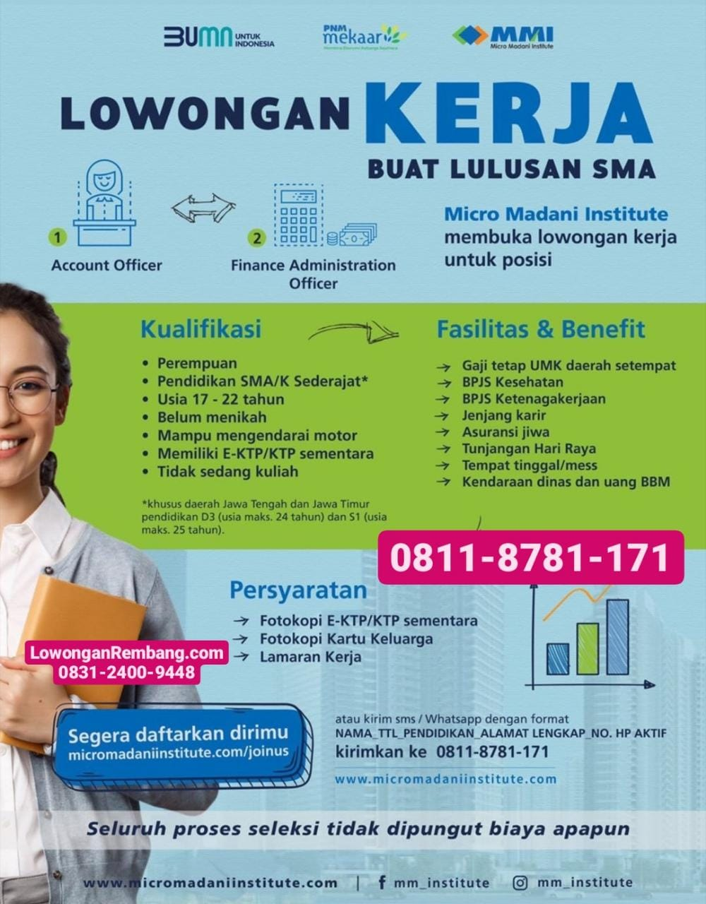 Lowongan Kerja BUMN Micro Madani Institute PNM Mekaar Rembang