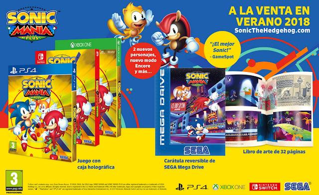 Este verano llega Sonic Mania Plus con una gran edición física, ¡y título de coches!